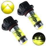 Paddsun 2PCS 100W 4300K 9006 HB4 Yellow High Power 2323 20-SMD LED Fog Driving Light Bulbs 5000LM (Tamaño: 2pcs)