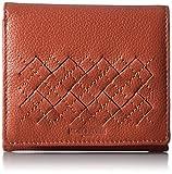 [ミチコロンドン] MICHIKOLONDON ボックス型小銭入れつき2つ折財布 レディス カードポケット6枚 本革 小さめ MJ5971 OR (オレンジ)