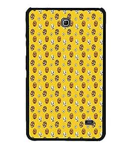 Printvisa Skull Pattern 2D Hard Polycarbonate Designer Back Case Cover For Samsung Galaxy Tab 4 :: Samsung Galaxy Tab 4 T231