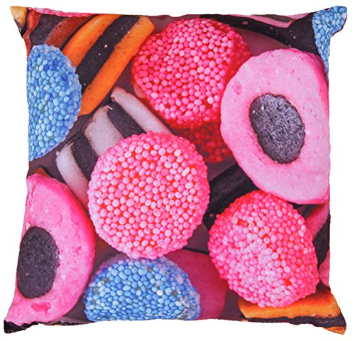 Bonbon Kissen ca. 30x30 cm trendiger Fotodruck mit abnehmbarem Bezug (incl. Innenkissen) Farbe Bunt