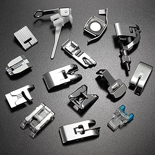 14Pcs Domestic Sewing Machine Presser Feet Set Janome Brother Singer front-550427