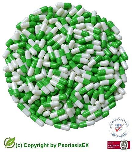 psoriasisex-1000-capsule-di-gelatina-dura-taglia-1-verde-bianco