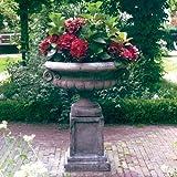 Large Garden Planter - Edwardian Plant Pot on Plain Plinth