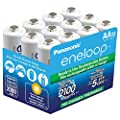 Panasonic BK-3MCCA12SA eneloop AA New 2100 Cycle Ni-MH Pre-Charged Rechargeable Batteries, 12 Pack