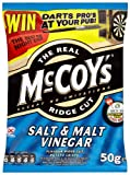 Mccoys Ridge Cut Salt and Malt Vinegar Flavour Potato Crisps 50 G (pack Of 36)