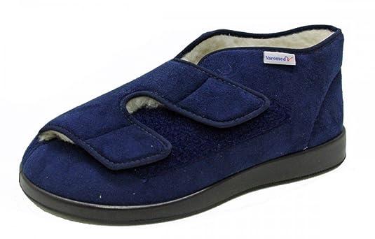 Varomed Slipper Velcro velours 60928-25 Genuar Winter II bleu