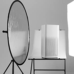 Happyjoy 32/80cm 5-in-1 Collapsible Multi-Disc Round Light Reflector Portable Diffuser Kit (Translucent,White,Silver,Black,Gold), Carringcase for Ind
