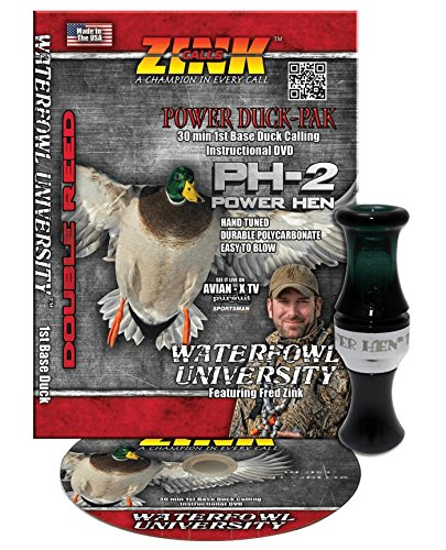 Zink Calls Power Duck-PAK Double Reed Duck Call with DVD