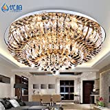JJ LED modernes ceiling lamp moderne et minimaliste CRYSTAL LAMP LED série salon light X78 restaurant appartement de luxe 1 chambre lampes d'éclairage de plafond de cristal, diamètre 480mm,220V-240V...