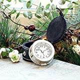 Gentlemens Travel Alarm Clock with Case - Great Value Gift for Him!
