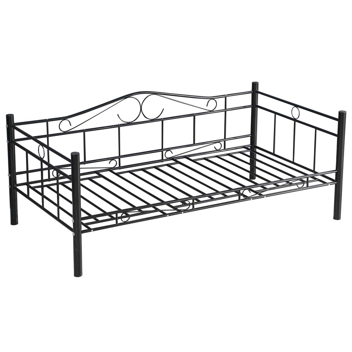 Giantex Twin Size Daybed Frame Metal Sofa Bed Solid Support with ...