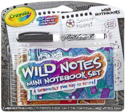 Crayola Wild Notes Flip Top Mini Notebook Set - 1