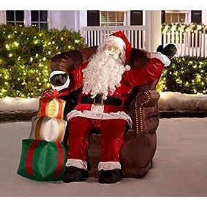 Amazon Com Christmas Inflatable Realistic Waving Santa