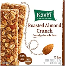 Kashi Crunchy Granola Bars Roasted Almond Crunch 84 Ounce Pack of 12