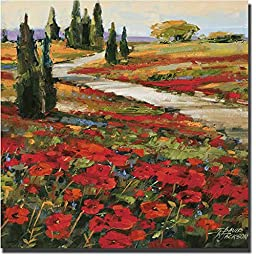 Hills in Bloom I by David Jackson Premium Gallery-Wrapped Canvas Giclee Art (Ready to Hang)