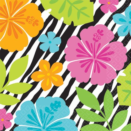 Wild Isle Luau Lunch Napkins Party Accessory