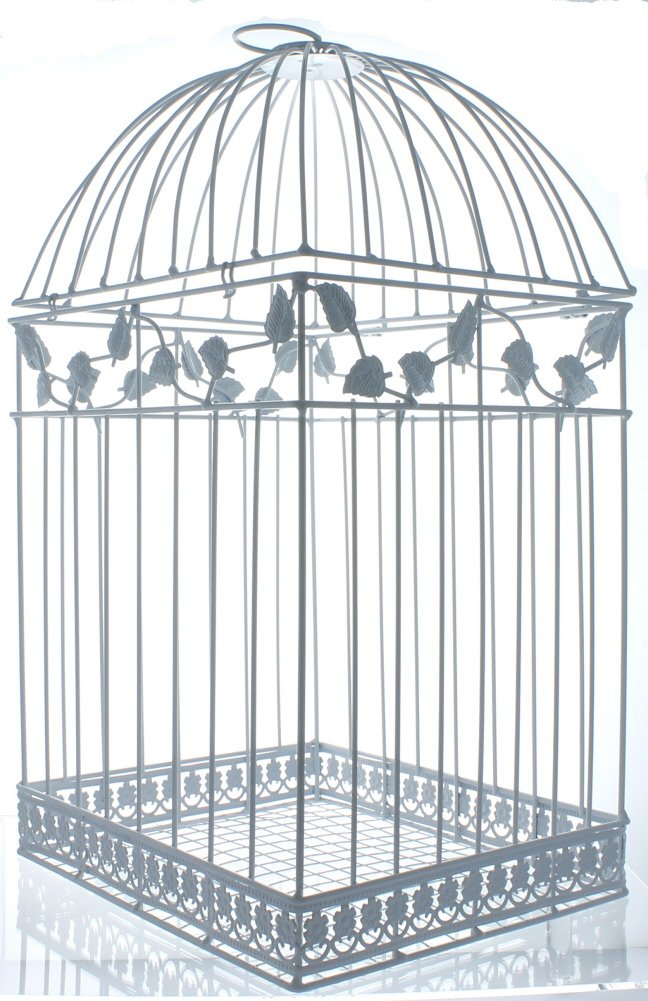 Fun Express White Birdcage Wedding Gift Card Holder 0