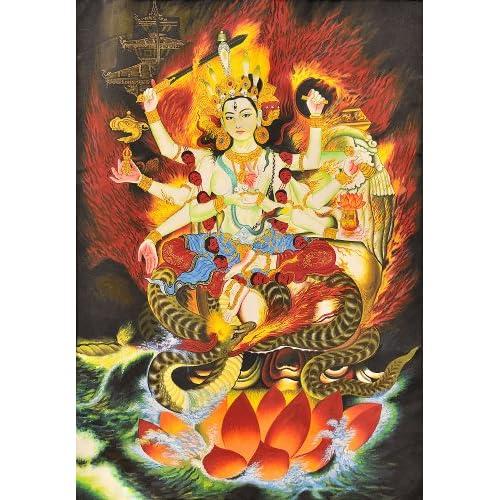 Amazon.com: Neplaese Form of Goddess Durga - Tibetan Thangka Painting