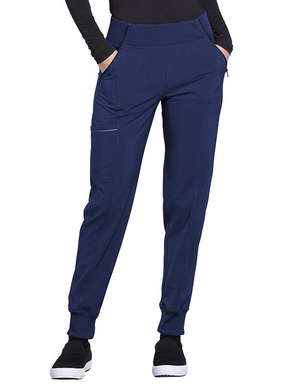 5222029aed8 Cherokee Infinity Women's Elastic Waistband Tapered Jogger Scrub Pant  Xx-Small Navy (Color: Navy, ...