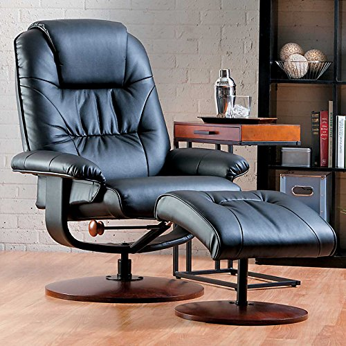 Swivel Recliner And Ottoman front-1060258