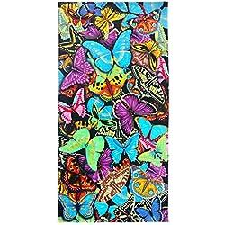 Ben Kaufman Sales 105049 Butterflies Beach Towel, Fiber Reactive, 30 by 60-Inch