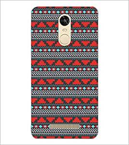 PrintDhaba Tribal Pattern D-5470 Back Case Cover for XIAOMI REDMI NOTE 3 PRO (Multi-Coloured)