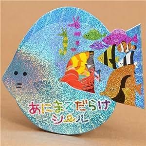 Bolsa pegatinas animales marinos kawaii de jap n for Pegatinas de peces