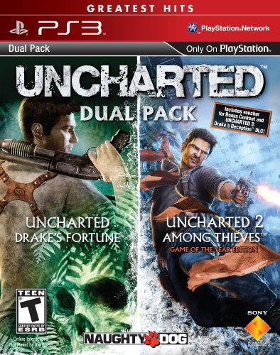 UNCHARTED Greatest Hits Dual Pack - Playstation 3 (Map Pack 3 compare prices)