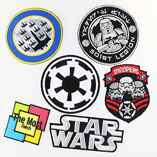 Set 6 pieces Star Wars Clone Storm Trooper 501st Legion Imperial Movie Popularity Embroidered Iron / Sew On Patch (Star Wars 1) (Iron Stars compare prices)