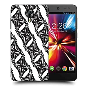 Snoogg Cross Pattern Printed Protective Phone Back Case Cover For Micromax Canvas Nitro 4G