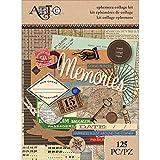 Momenta 25061 Art-C Ephemera Collage (132 Pack), Travel, Assorted