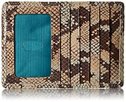 HOBO Vintage Euro Slide Wallet ID Holder, Sand Snake, One Size