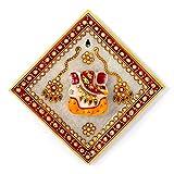 Jaipur Raga Beautiful N Modern Gold Meenakari Lord Ganesha N Marble Hanging Plate