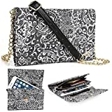 Timeless Black Paisley Weekender Crossbody Bag For Zte Axon Mini, Nubia Prague S 5.2, Nubia Z7 Mini, Z9, Z9 Mini...