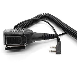 Radioddity RD-203 Waterproof Remote Speaker Mic for GD-77S GD 77 BaoFeng RD-5R DMR UV5RX3 UV-5R UV-5R EX TYT WouXun Kenwood Two-Way Radio Walkie Talkie, UV5RTP GT-3TP GT-5TP BF-F8HP UV-82HP UV8000E