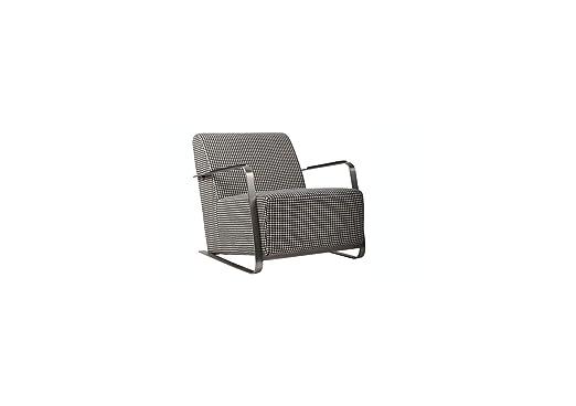 Zuiver Sessel Adwin, Stoff, schwarz / weiß, 70 x 83 x 69 cm