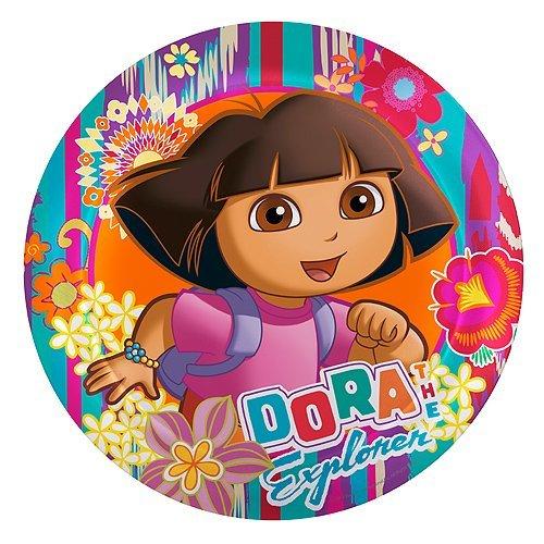 Dora 8 Inch Round Melamine Plate - 1