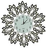 Lulu Decor, Decorative Leaf Metal Wall Clock, Glass Dial 9