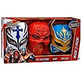Mattel WWE Wrestling Superstar Mask 3-Pack Rey Mysterio, Kane & Sin Cara