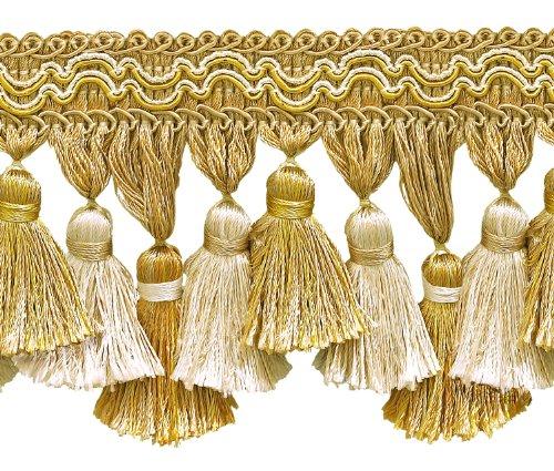 Light Gold, Ivory 3 3/4