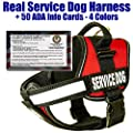 barkOutfitters Service Dog Vest Harness + 50 FREE ADA Info Cards Kit