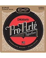 D'Addario Cordes pour guitare classique avec revêtement D'Addario EXP45, Normal