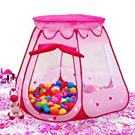 BATTOP Pink Princess Tent Indoor and…
