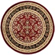 Safavieh Lyndhurst Collection LNH331B Red and Black Round Area Rug, 5 feet 3 inches in Diameter (5\'3\