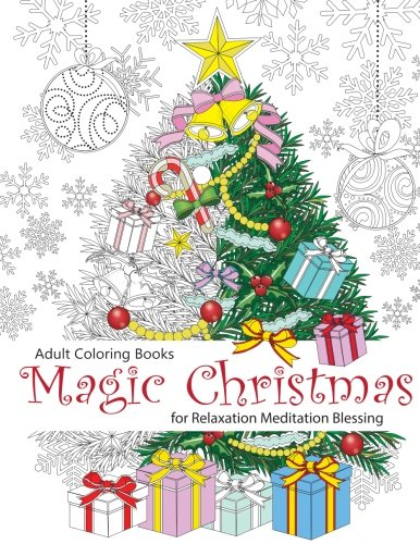 Adult-Coloring-Book-Magic-Christmas-for-Relaxation-Meditation-Blessing-Volume-8