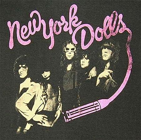 リトルパイレーツ ロック バンド Tシャツ ニューヨーク ドールズ/NEW YORK DOLLS S チャコールグレー