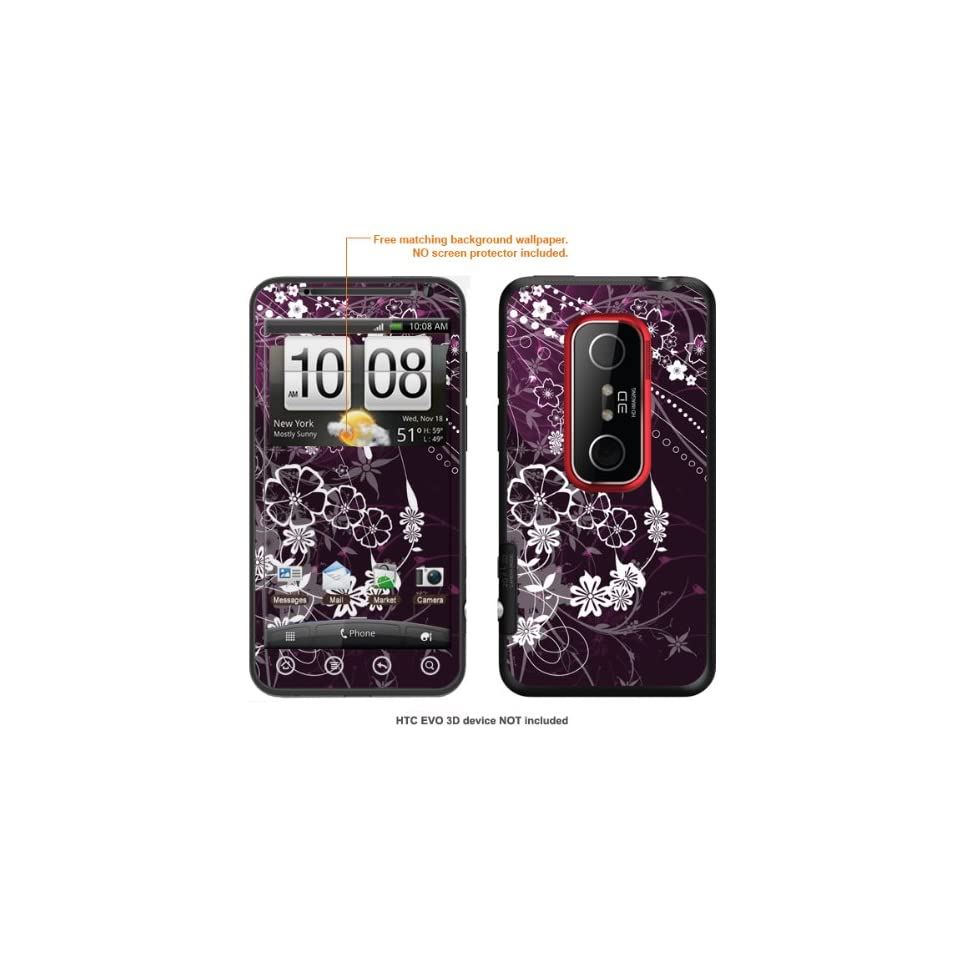 Protective Decal Skin STICKER for HTC EVO 3D case cover evo3D 476
