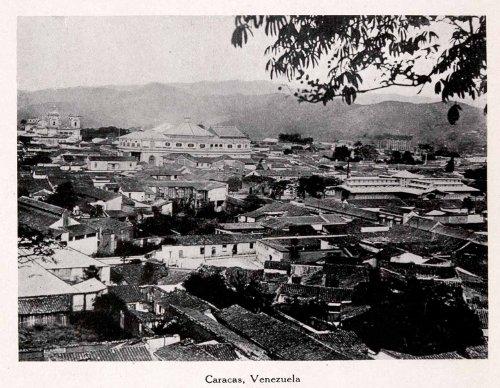 1911-print2-caracus-venezuela-south-american-cityscape-mountains-trees-buidlings-original-halftone-p