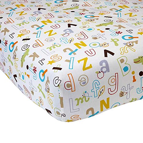 NoJo by Jill McDonald Abc with Me Crib Sheet - 1