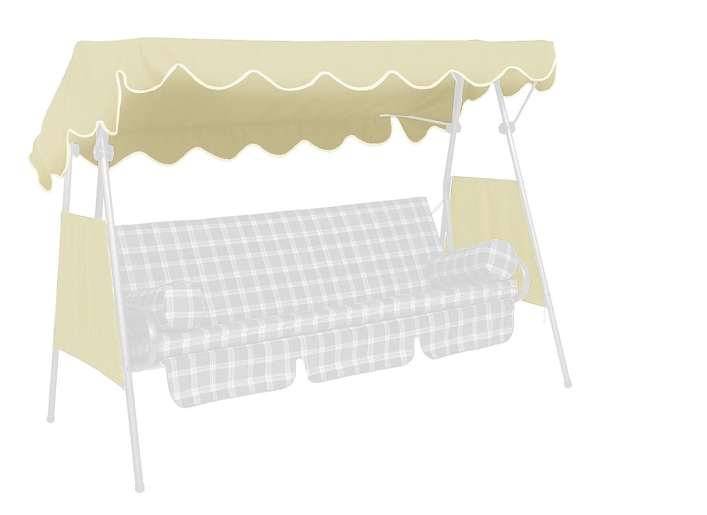 Angerer Sonnendach für Hollywoodschaukel PE-Gewebe, Beige, 200 x 120 cm günstig online kaufen